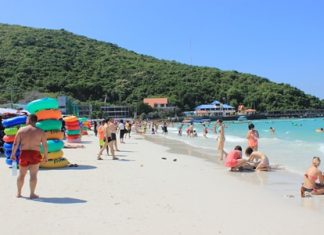 Koh Larn is still a popular destination, but tourist numbers are down.