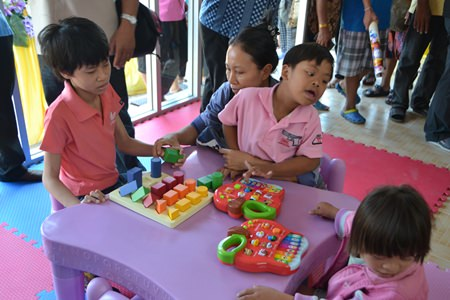 Young special needs children benefit from the devoted staff.