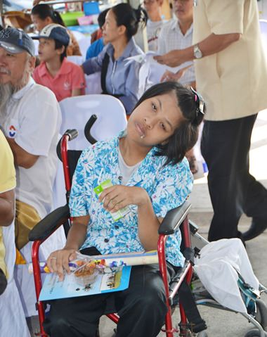 Thanks to the new center, this young woman will receive an education best suited to her disability.