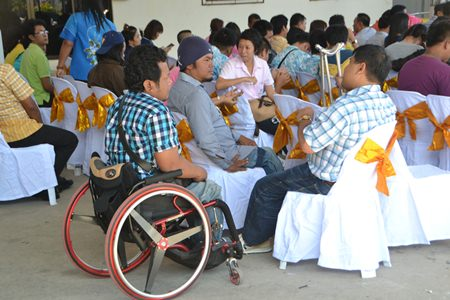 Members of the Eastern Region Disabled Association attend the grand opening ceremony and will sponsor lunch for children and parents for the entire school year.
