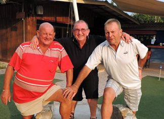 (From left) John Locke, Noddy Moyle and Peter Nixon.