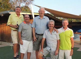(From left) Eddy Beilby, Mick Beresford, John Stafford, Reijo Heiskanen and Jukka Kangas.