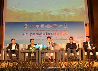 Officials from the Designated Areas for Sustainable Tourism Administration offer advice to Pattaya-area hotel operators on eco-friendly practices, business and free trade.