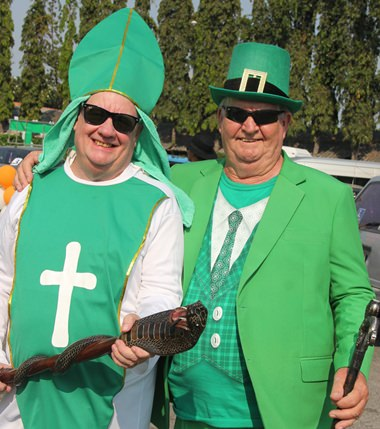 St. Patrick and Derrick Kane.