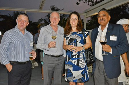 (L to R) PMTV Productions Manger Paul Strachan, Dr. Iain Corness, Carolyn Whitehouse and Peter Malhotra, Managing Director of Pattaya Mail Media Group form a lively quartet.