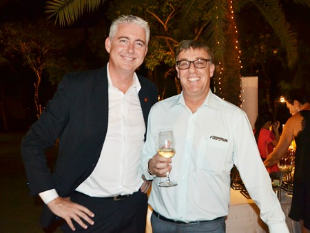 The Amari Pattaya's General Manager Brendan Daly (left) and Resident Manager Richard Gamlin enjoy the evening.