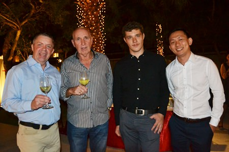 (L to R) Paul Strachan from PMTV; Michael Scollins, E&I Installation Engineer of QGC; Andrea Picello, Brand Executive for Spirit of IWS Thailand Co., Ltd.; and Supasit Peanchitlertkajorn, Sales Manager for IWS Thailand Co., Ltd.