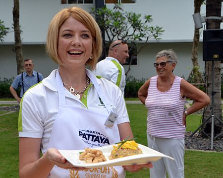 Holiday Inn Pattaya GM Kate Gerits has reason to be proud of her culinary masterpiece.