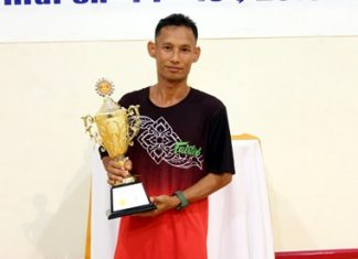 Thosphol Kumkongkhaew was the winner of the 2nd Fitz Club squash tournament at the Royal Cliff Beach Resort in Pattaya on March 14.