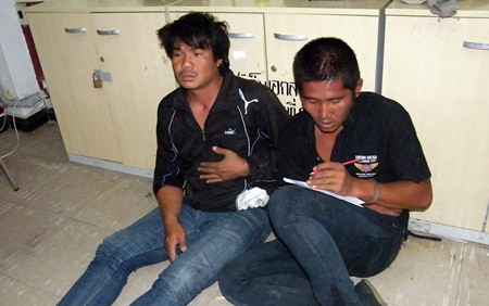 Lithikrai Jingwaja and Anuwat Wongkhamhan, along with a 17-year-old accomplice (not shown) have been charged with theft.
