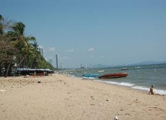Officials are turning their attention to erosion at Jomtien Beach.