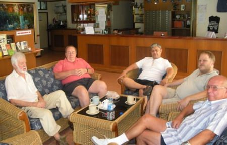 The Monday discussion group meets every week. The group was started in 2004 and has been meeting weekly ever since. With no set agenda, it offers a freewheeling and sometimes vigorous discussion on any subject which participants care to engage in.