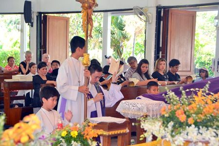 The High Mass on Easter Sunday.