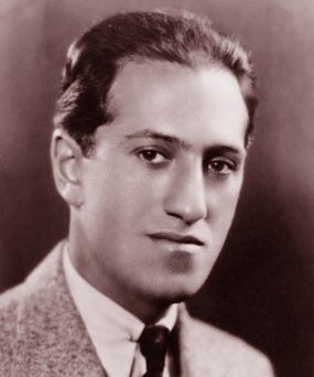 Modest start: George Gershwin.