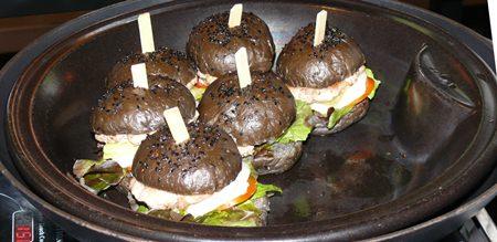Black burger.