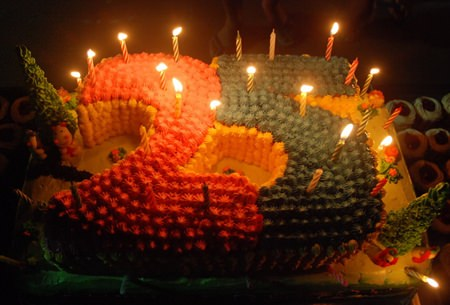 The anniversary cake - delicious.