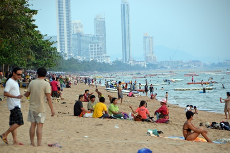 Sun worshippers have returned to local beaches now that Songkran is over.