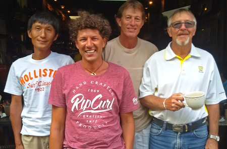 (Left-right) Kenny Aihara, Lothar Egger, Rick Allison and Bill Eyles.
