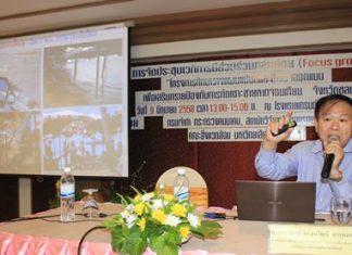 Professor Thanawat Jarupong outlines the 5 option to redevelop Jomtien Beach.
