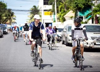 Over 60 condo owners and their friends, from both Pattaya and Bangkok, took part in the 2-hour bike ride.