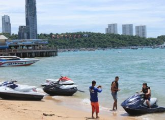 Pattaya officials were warned the city faces being boycotted by Indian tourists if they don't put an end to jet ski scams once and for all. Pattaya City Hall called an emergency meeting last weekend to address the problem, as tourist police reported the number of extortion incidents has risen sharply, with two complaints received in February, one in March, two each in April and May then eight in June and nine in July.