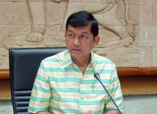 Deputy Gov. Chawalit Saeng-Uthai chairs a meeting to announce the famous Chonburi buffalo races will return October 26.