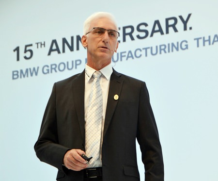 "Jeffrey Gaudiano, Managing Director of BMW Group Manufacturing Thailand said, ""This is a truly historic moment ..."""