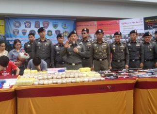 Police announce their massive haul of criminals, drugs, paraphernalia and weapons since the beginning of the year.