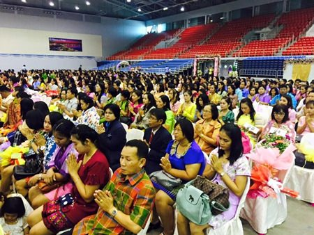 Hundreds of Pattaya teachers were celebrated during a Teacher's Day ceremony at the Eastern National Indoor Sports Stadium.