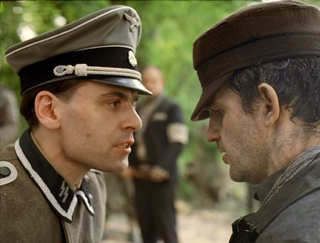 "This image shows Christian Harting (left) and Geza Rohrig in a scene from ""Son of Saul."" (Sony Pictures Classics via AP)"