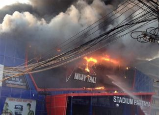Fire engulfs Pattaya Muay Thai stadium