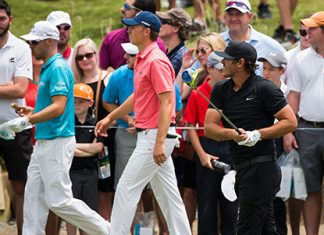 Koepka overcomes early bogeys, Spieth for lead at Nelson