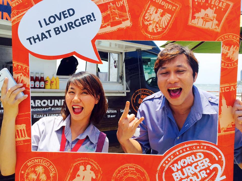 Hard Rock World Burger Truck come to Pattaya