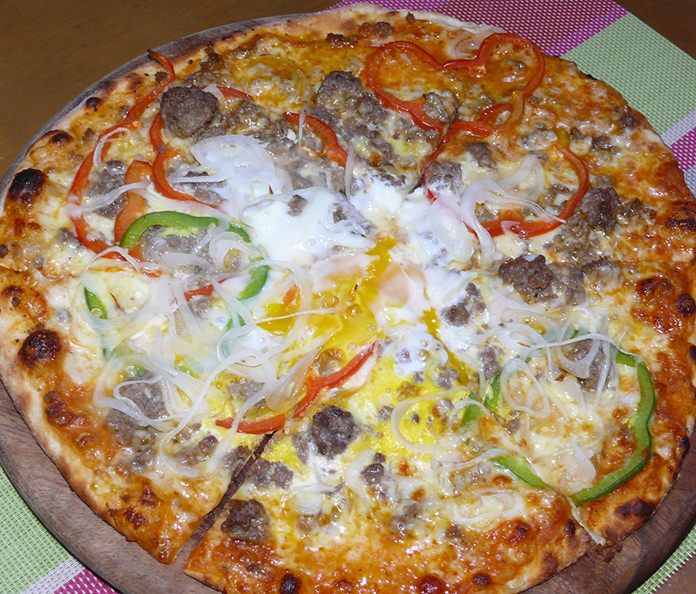 The end result – the best pizza.