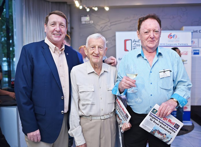 (L to R) Brian Songhurst, Archie Dunlop and Allan Riddell, advisor at SATCC.