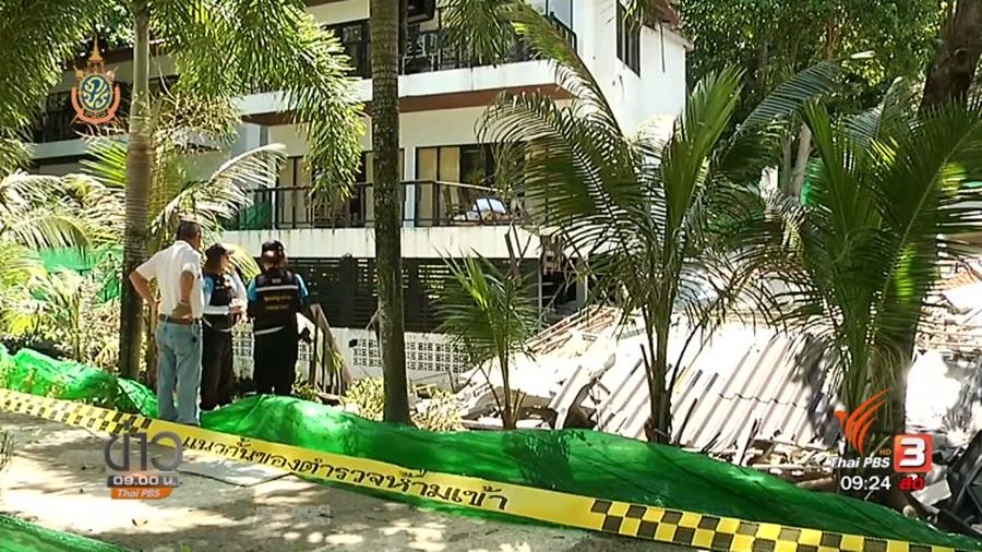 Siam Beach Resort building collapsed on poor construction standard and location on waterway