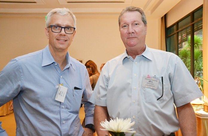 Karsten Deckert from Leschaco (Thailand) Ltd. and Peter Weiss from Suretank.