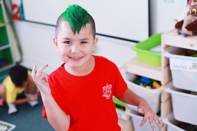 A punk Primary student!