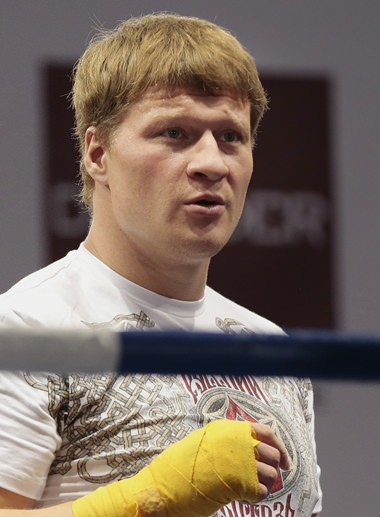 Russian boxer Alexander Povetkin. (AP Photo/Ivan Sekretarev)