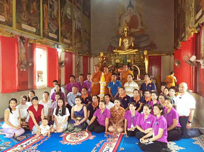 The Diana Group led a group of local organizations in celebrating the start of Buddhist Lent by offering candles and supplies to monks at area temples.
