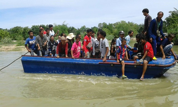Uthane Yangpraphakorn loaded park employees onto a raft that carries tourists into the middle of a lake to feed hungry crocs, then shot holes in it, had workers beat it with pipes and issued a challenge to reporters that if anyone could prove it was unsafe, he would award them 5 million baht.