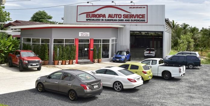 Europa Auto Service is located just off Highway 36 in Pong Sub-district, Banglamung, Chonburi.