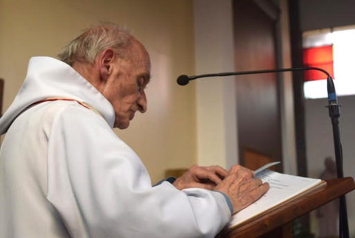 This is an undated image of French Priest Jacques Hamel. (Doicese of Rouen via AP)