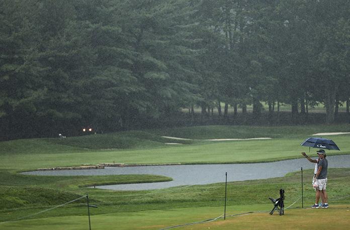 Storms interrupt PGA Championship at Baltusrol