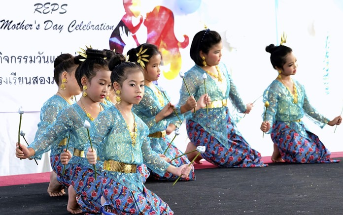 Primary Traditional Thai dance performance.