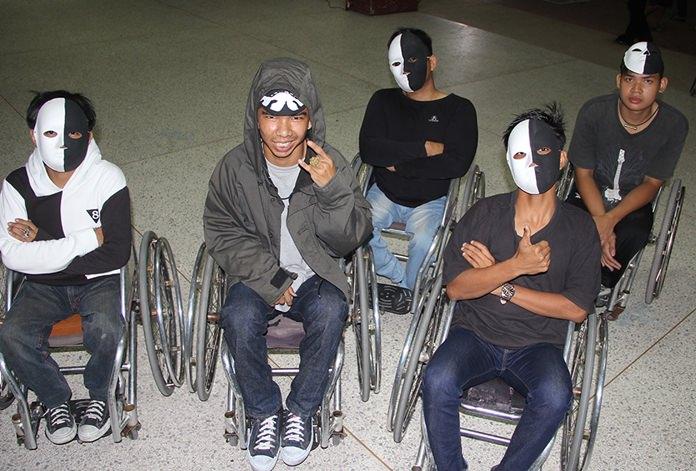The wheelchair dancers.