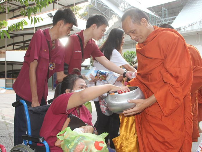 Alms for the Buddhist monks.