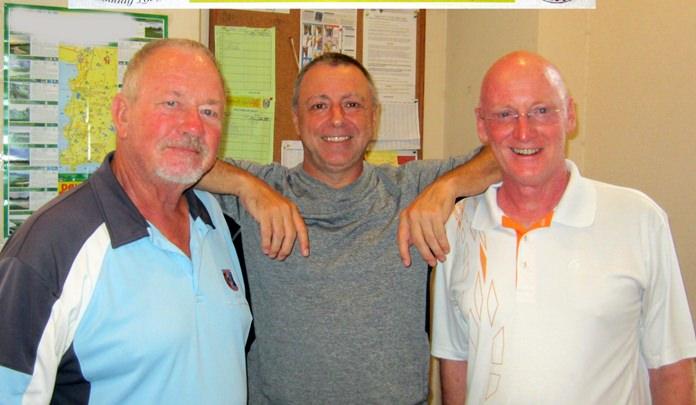 (L-R) Barry Elphick with Tom Herrington and Graham Buckingham.