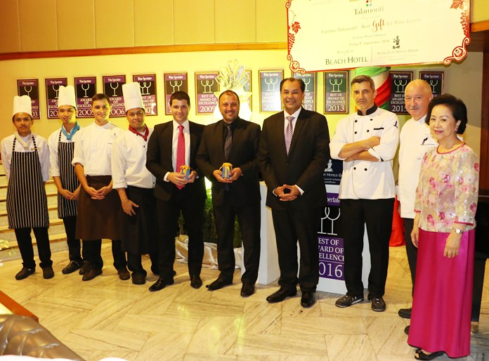 Accolades for the 'Amazing' Executive Chef Walter Thenisch (2nd right) and his culinary team.