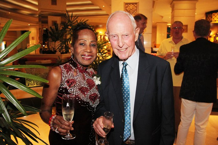 Richard and Janet Smith stalwarts of quality wine affairs around town.